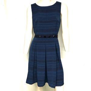 Tahari knee length blue on blue